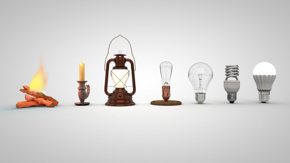 light bulb evolution throughout the years